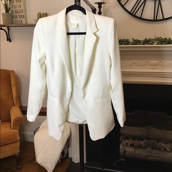 White/Ivory Blazer Jacket Size 6